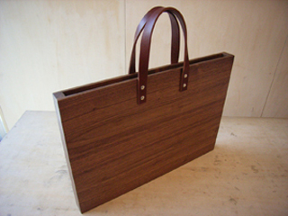 木のカバン A3サイズ/wood furniture+1 a