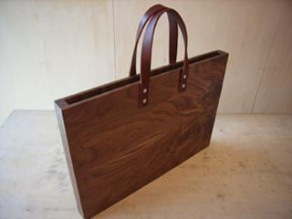 木のカバン A3サイズ/wood furniture+1 b