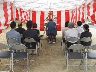 地鎮祭/山川の家/徳島県吉野川市